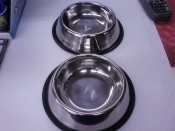 Stainless Steel Non Tip Pet Bowls
