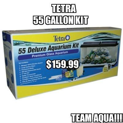 55 gal deluxe aquarium kit aqua animania for 55 gallon fish tank kit