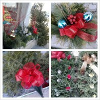 Fresh Trees, Grave Blankets, Wreathes, Garland, Poinsettias and Decor Pots!