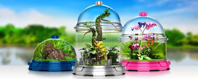The BioBubble is the world's most versatile animal habitat. Fish, hamsters, birds and even reptiles.